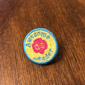Girl Scout Awesome Leader pin button
